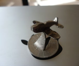 How to Make a Miniature Plane From a Coin