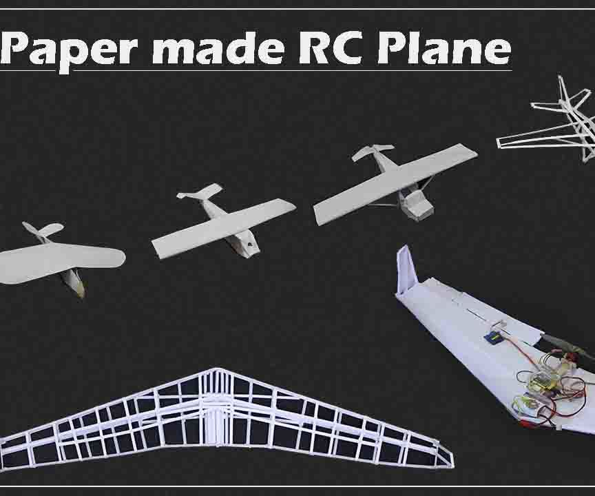 Completely Paper Made RC Airplane