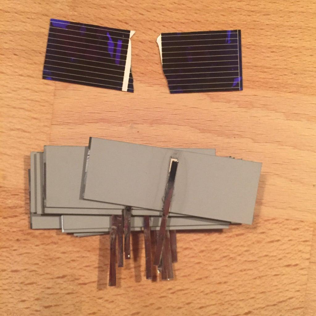 Step 2: Tabbing Solar Panels