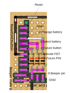 Board: Reset, Gnd E Button to Select Battery