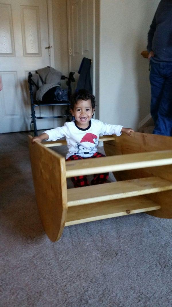 Child's Step/Rocker Boat