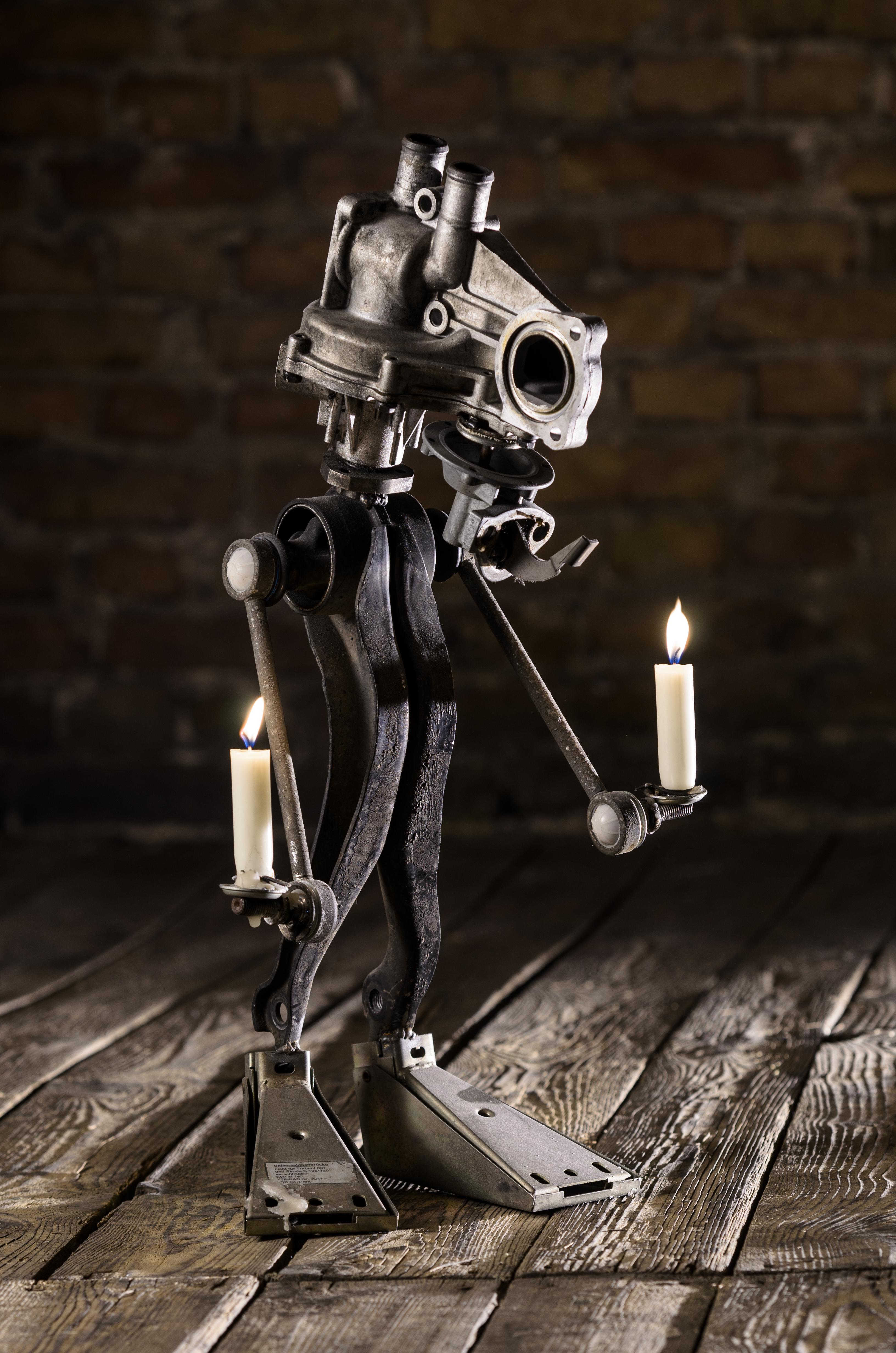 Industrial Monster Candlestick