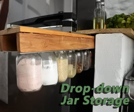 Drop-down Jar Storage
