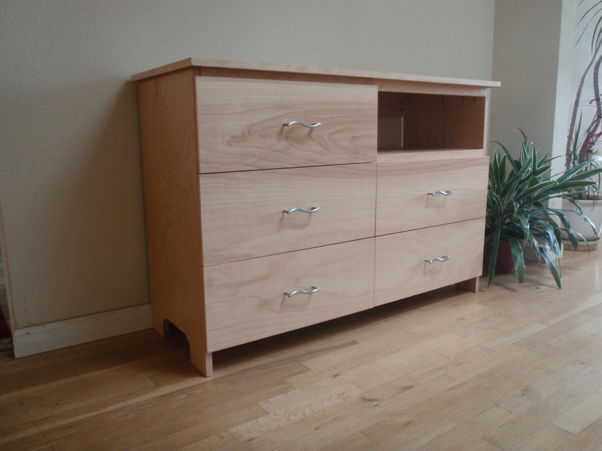 Minimalist Style Dresser with Electronics Bay
