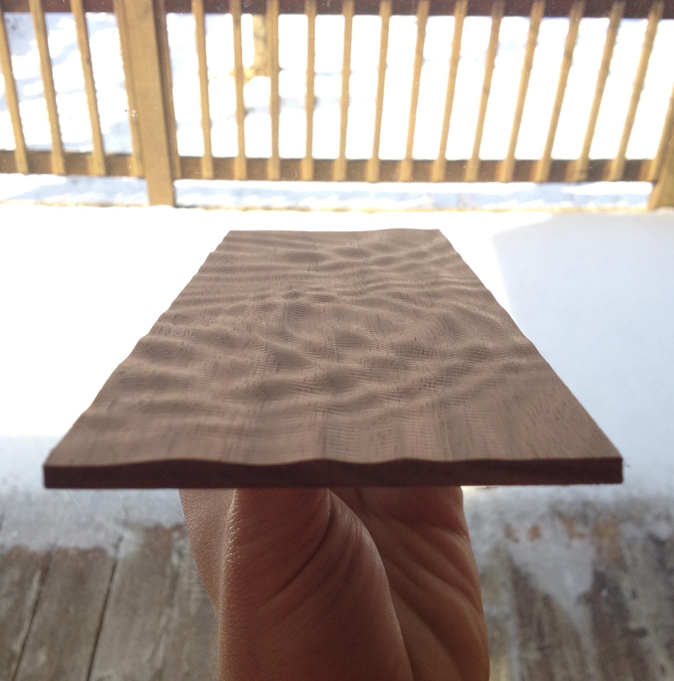 Simulating Water Drops on Wood