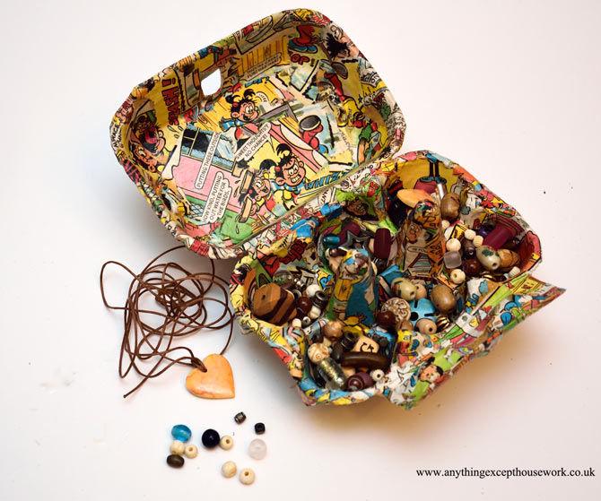 Funky Egg Box Bead Storage