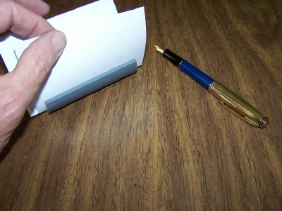 Business Card and Note Slip Holder from PVC
