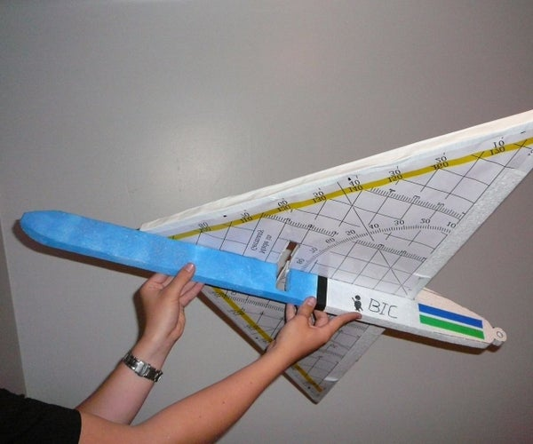 RC Pen-triangle Ruler Plane