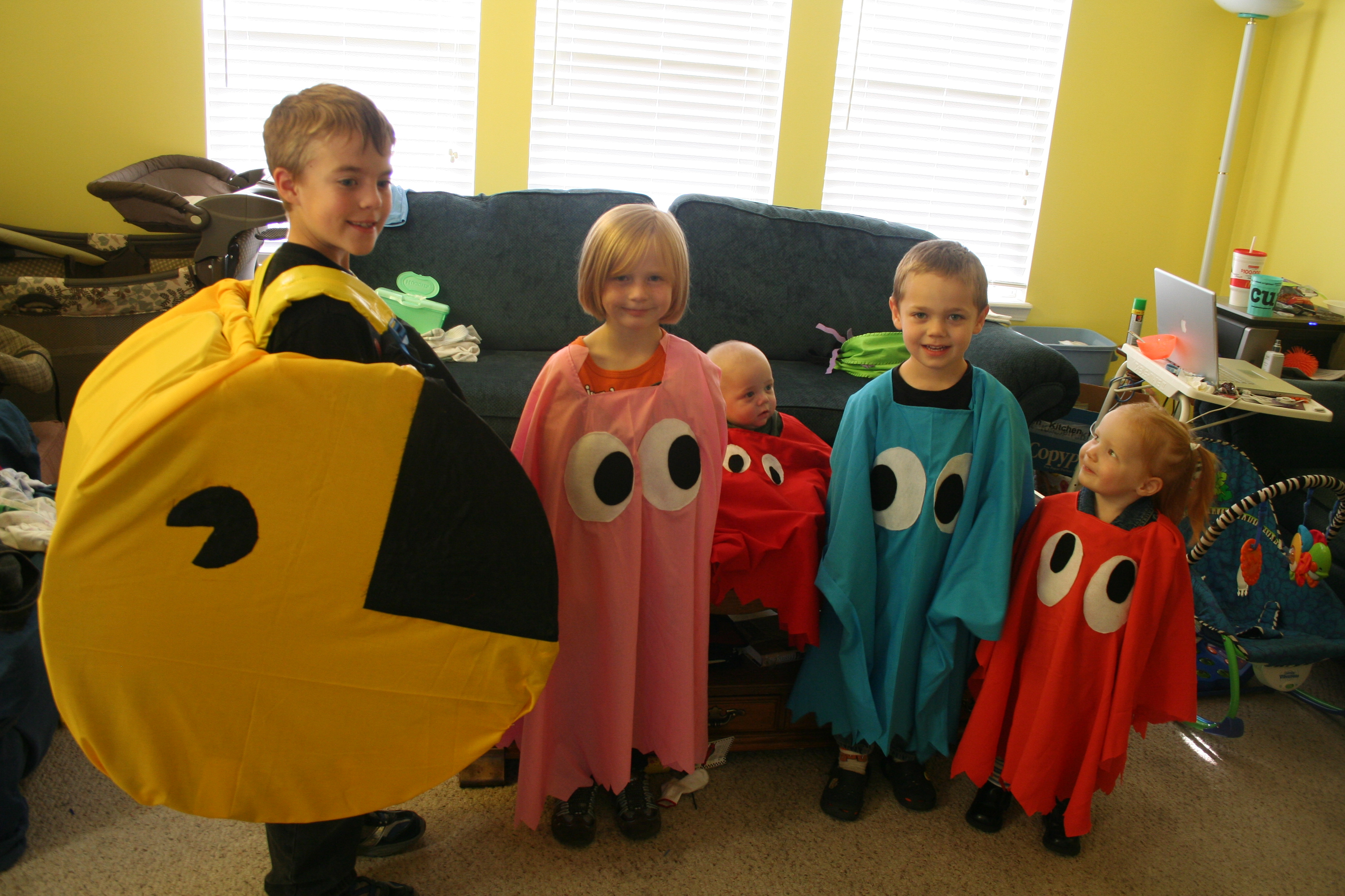 Pac Man and the ghosts costumes