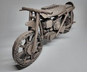 纸板摩托车复制品