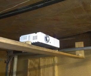 Adjustable under garagedoor shelf/projector mount