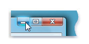 Clicking the Minimize Button