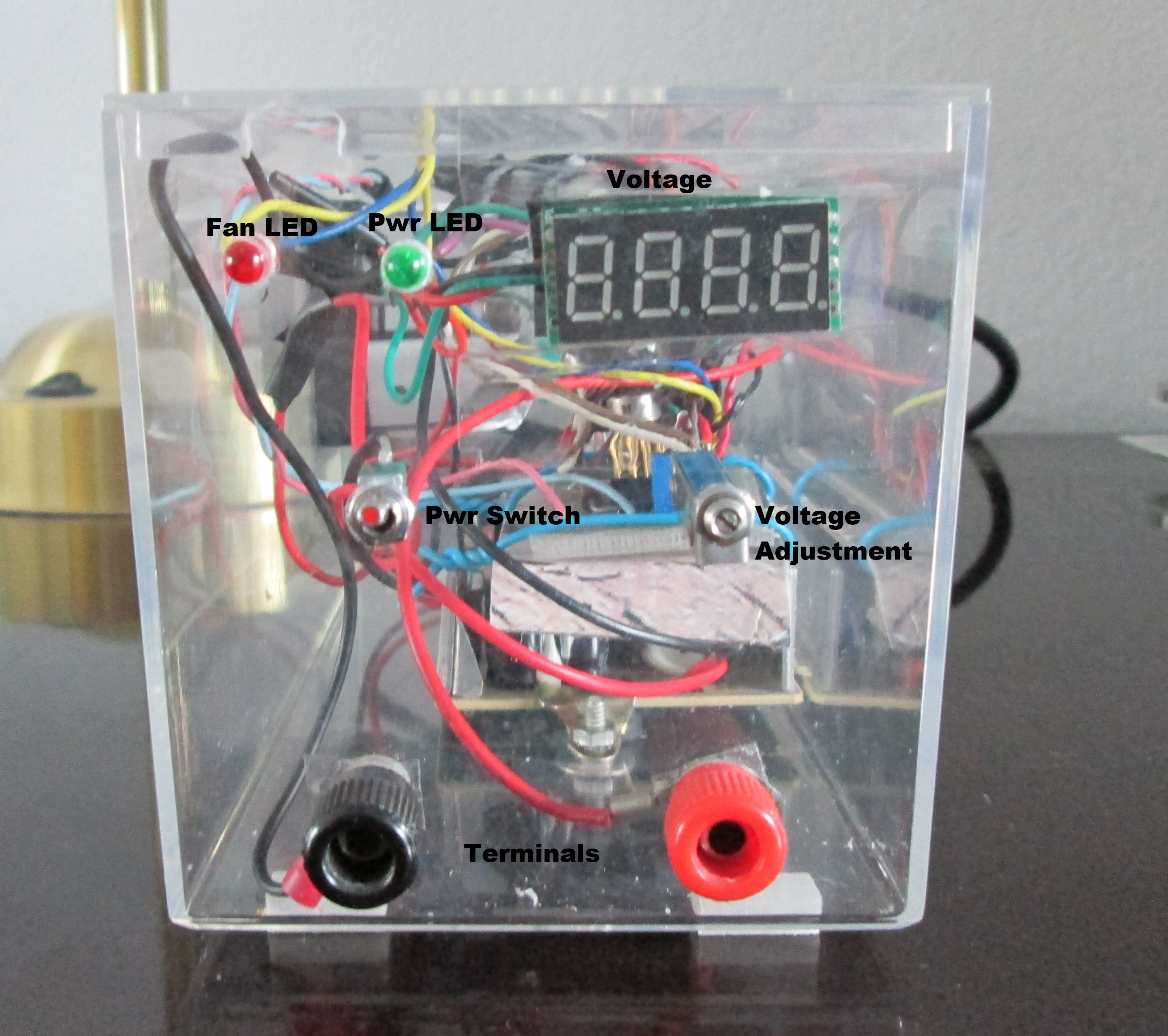 Variable Bench Power Supply with Active Cooling