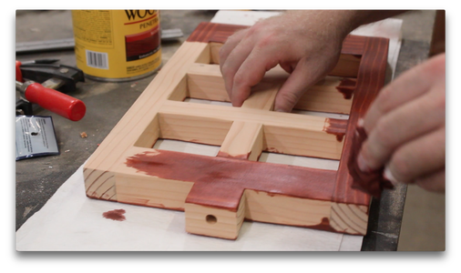 Staining the Frame