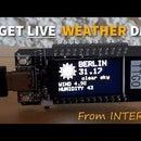 GET LIVE WEATHER DATA FROM THE INTERNET TTGO ESP32
