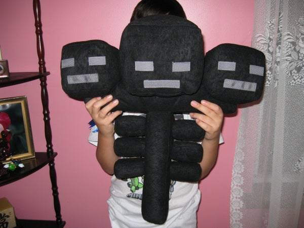 Make a Wither Plushie From Minecraft