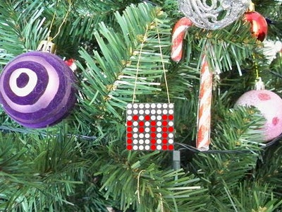 LED Scrolling Christmas Tree Ornament With Built in Video Game!