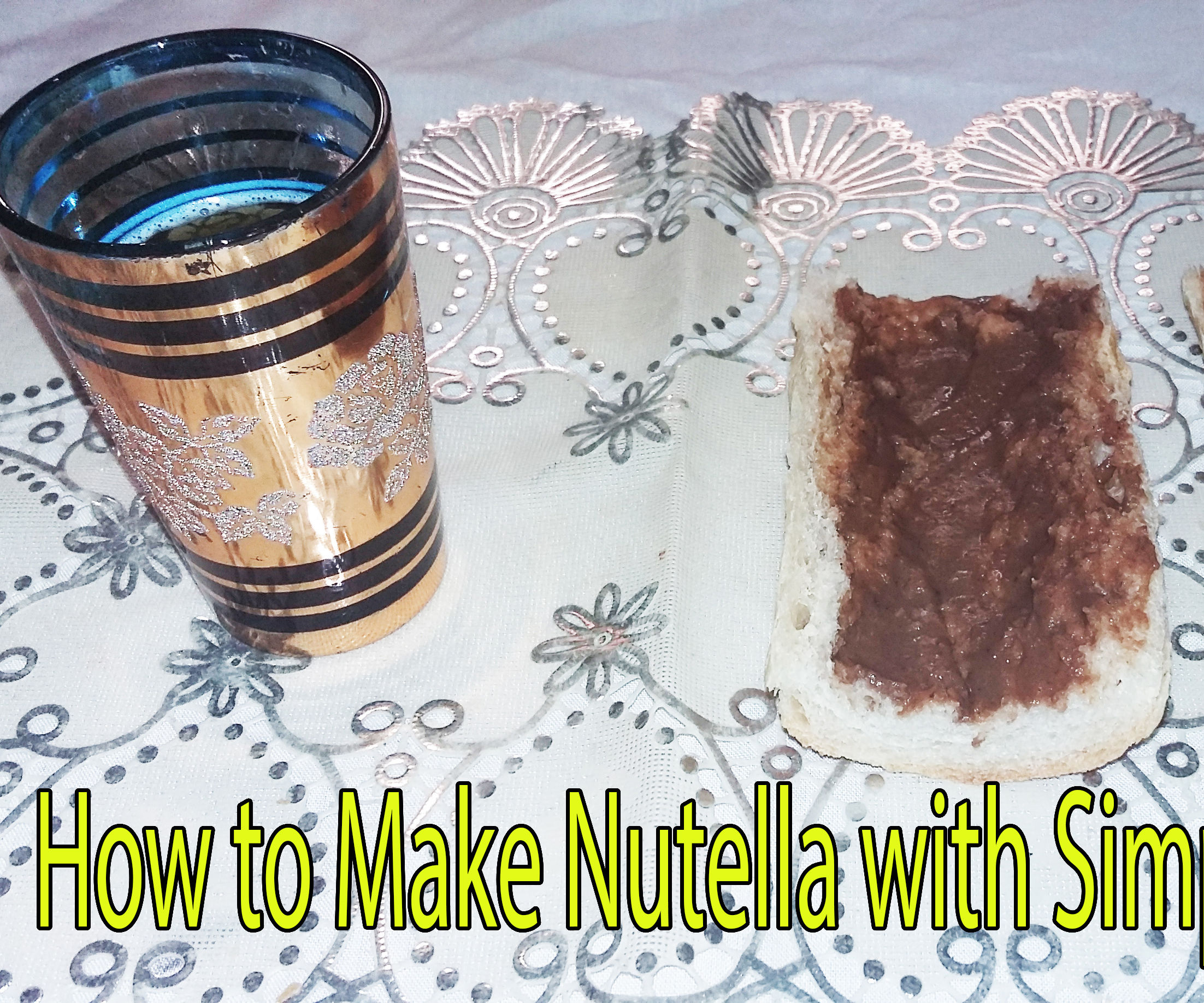 #9 How to make NUTELLA With Almonds - Made in Morocco - DIY Abdellah