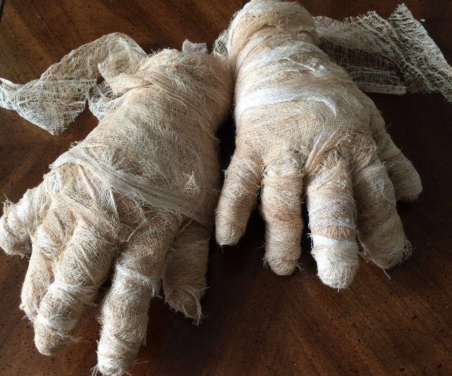 Dollar Store Mummy Hands