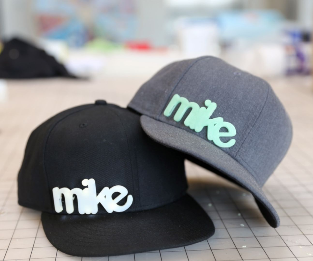 3D printed hat graphics