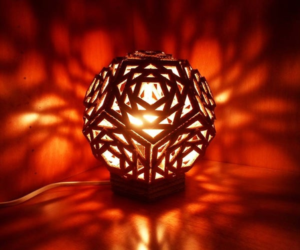Geometric Cardboard Lamp