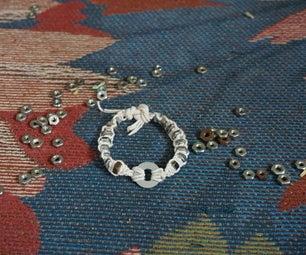Hex Nut and Washer Bracelet