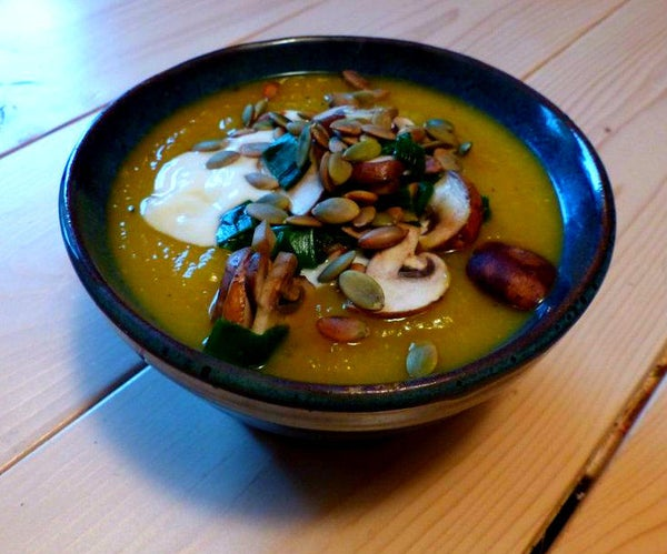 Butternut Squash Soup With All the Trimmings!