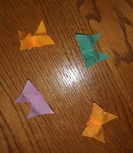 Easy Sticky Note Butterflies