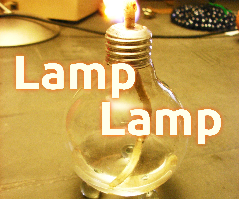 Used Light Bulb Oil/Alcohol Lamp