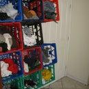 milk crate clothing storage