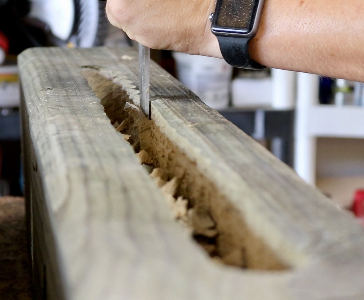 Cutting and Coring the Beams