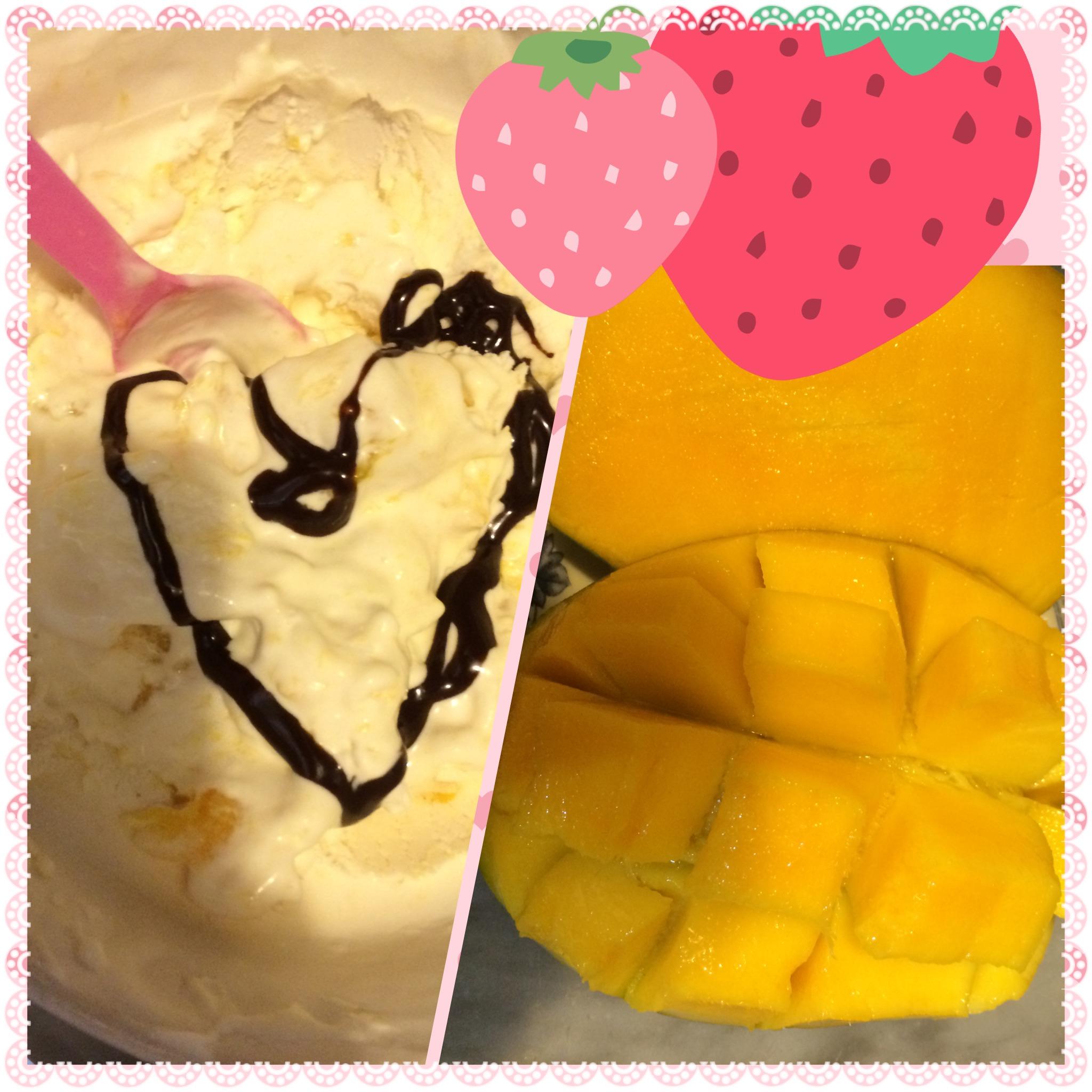 Fresh Mango Ice Cream !