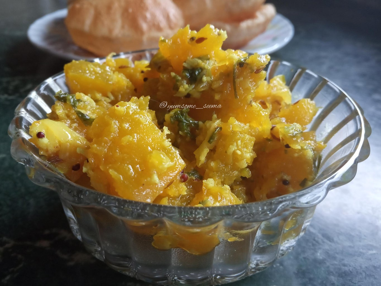 Savoury Pumpkin Bhaaji