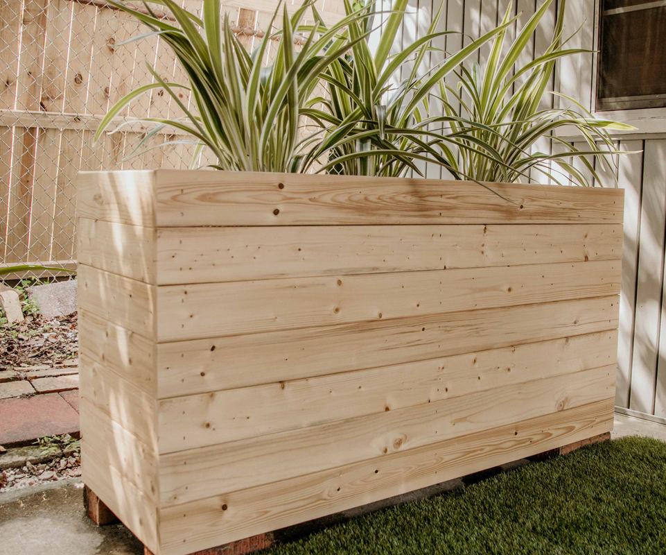 DIY Modern Outdoor Planter