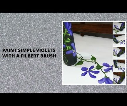 PAINT SIMPLE VIOLETS WITH a FILBERT BRUSH