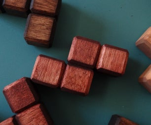 Wooden Tetriminos (Tetris Blocks)