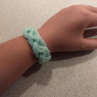 Knitted Braided Cable Bracelet