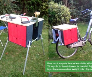 Portable Workbench for a Bicycle.