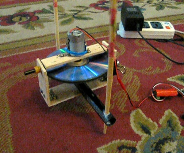 Self Balancing Gyroscope on Two Chopsticks
