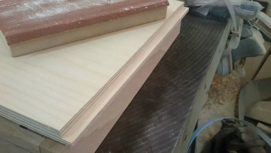 Cutting the Plywood - Making  Joining Paths of the Body of Cajon