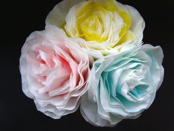 PAPER FLOWERS, Make Paper Roses With Coffee Filters