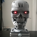 The Glowing Eyes Terminator T-800 Exoskull From Thingiverse