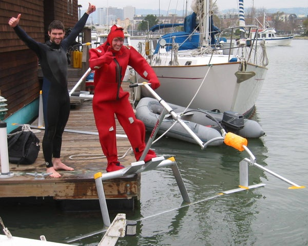 """How to """"Fly"""" a Human Powered Hydrofoil - the """"Aquaskipper"""""""