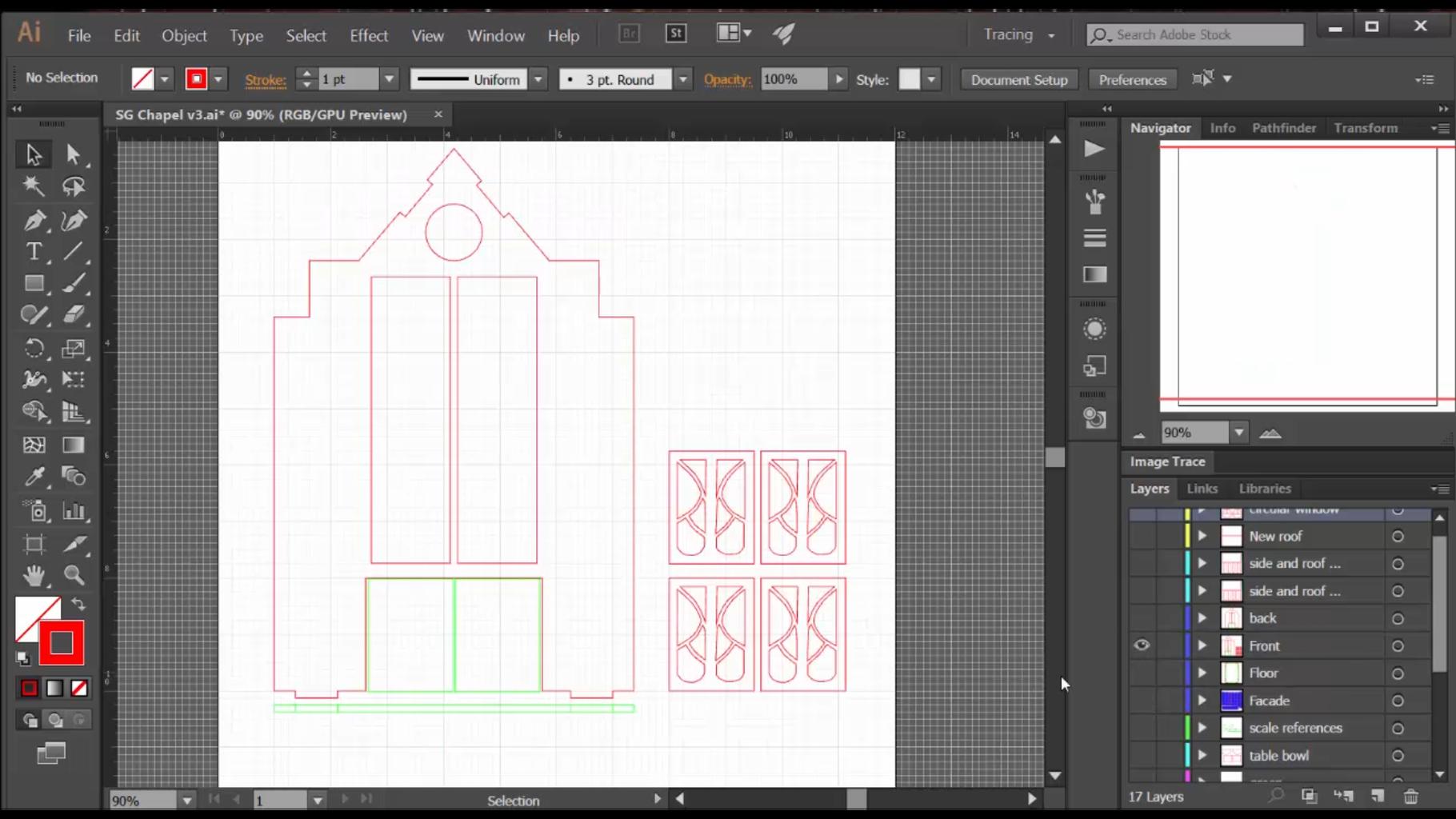 Design the Chapel in Adobe Illustrator