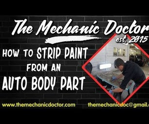 How to Strip Paint From an Auto Body Part