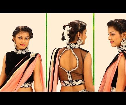 Simple Indian Hairstyles for Long Hair For Wedding Reception & Party – Bridal Hairstyle Step By Step