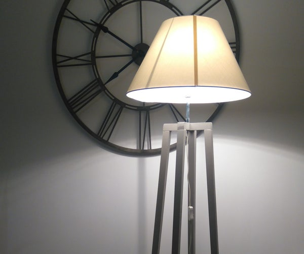 DIY Floor Lamp With Only a Saw
