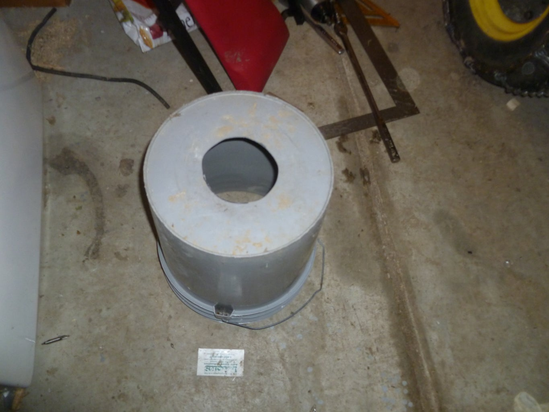 Prepare the Hopper (5 Gallon Bucket)