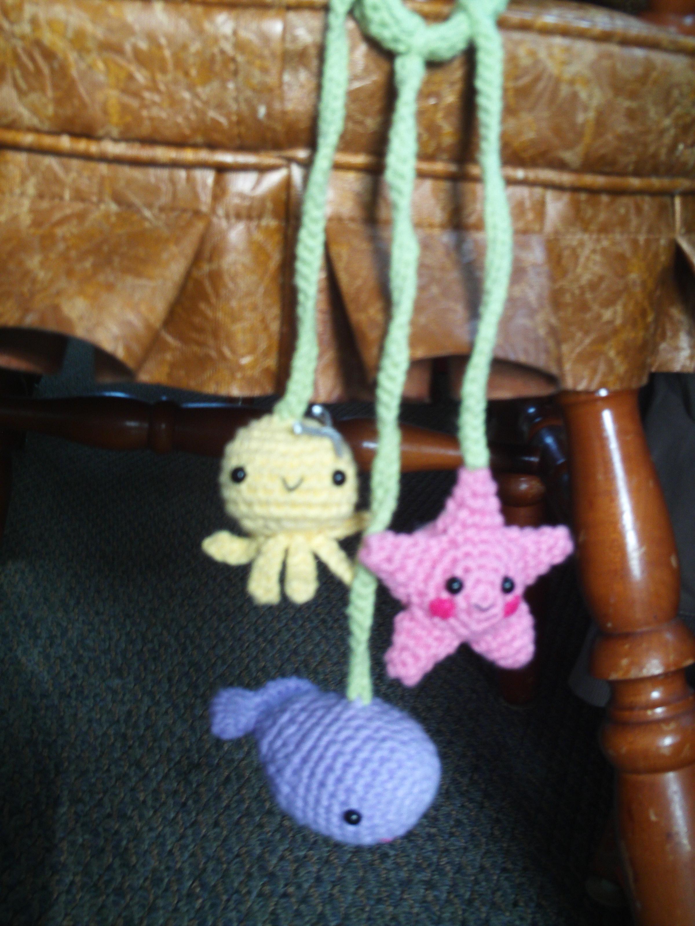 Sea Creature Carseat/ Crib Attachment Toy