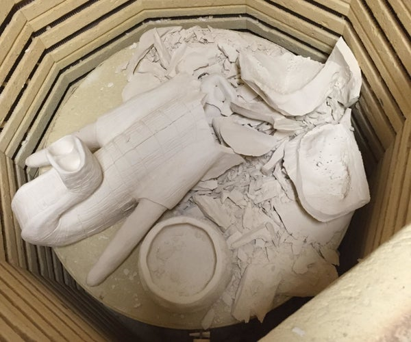 Repairing a Ceramics Project After Breaking in a Kiln